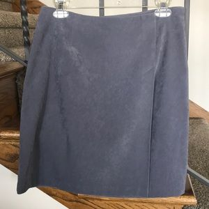 Casual Corner gray blue faux suede skirt, size 10